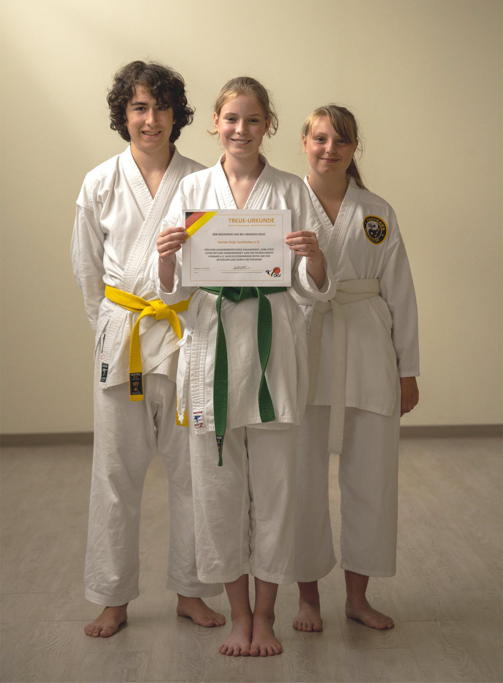 Treue zum Karate Dachverband DKV